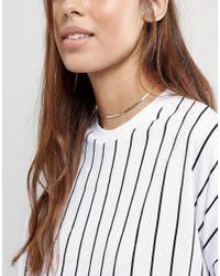 ASOS - Metallic Fine Chain Choker Necklace - Lyst