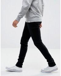 WÅVEN Super Skinny Spray On Jeans In Black for men