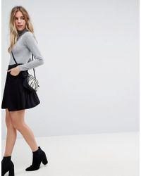 2a99952e6e4d31 ASOS Skater Skirt With Pockets in Black - Lyst