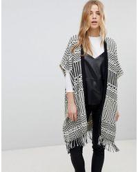 New Look - Multicolor Jacquard Blanket Cardi - Lyst