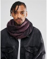 ASOS DESIGN - Oversized Snood In Purple And Black for Men - Lyst