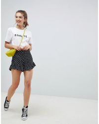 ASOS - Multicolor Tailored Soft Fluted Short In Spot - Lyst