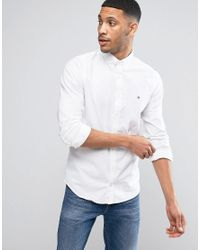 090538ec80f Lyst - Tommy Hilfiger Stretch Oxford Shirt Slim Fit Buttondown In ...