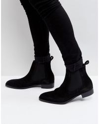 ALDO - Oneillan Suede Chelsea Boots In Black - Lyst