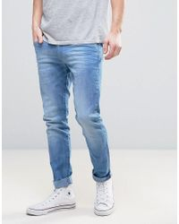 Wrangler - Skinny Fit Jeans In Waterfall Blue for Men - Lyst