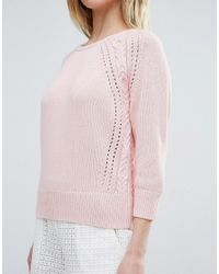 French Connection - Pink Moonlight Mozart Knit Jumper - Lyst
