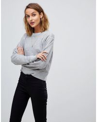 AllSaints - Gray Mabelle Distressed Sweater - Lyst