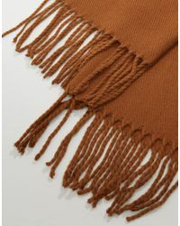 ASOS - Brown Woven Scarf In Tobacco for Men - Lyst