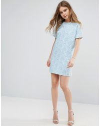 Traffic People | Blue Printed Shift Dress | Lyst