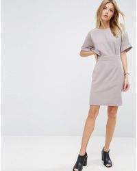 ASOS | Gray Mini Wiggle Dress | Lyst