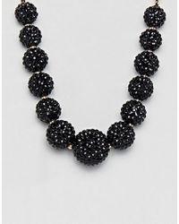 Coast - Black Ball Sparkle Necklace - Lyst