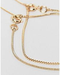 Weekday - Metallic 2-pack Chain Bracelets In Gold - Lyst