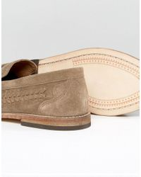 H by Hudson - Natural Zair Suede Tassel Loafers for Men - Lyst