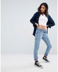 Liquor N Poker - Blue Boyfriend Jean With Stepped Waist - Lyst