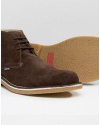 Lambretta - Lambratta Desert Boots In Brown Suede for Men - Lyst