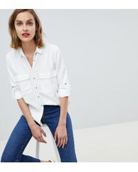 Mango - Pocket Front Shirt In White - Lyst