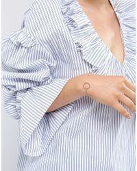 ASOS | Metallic Open Oval Cuff Bracelet | Lyst