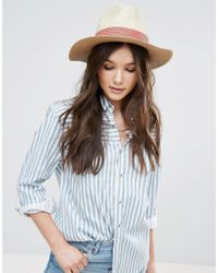 French Connection | Multicolor Straw Hat With Red Band Detail | Lyst