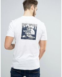 2bea33e1fc Lyst - The North Face Redbox Celebration T-shirt Back Print In White ...