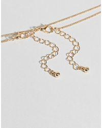 ASOS DESIGN - Metallic Pack Of 2 Double Disc Necklaces - Lyst