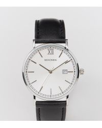 Sekonda | Silver Face Black Leather Strap Watch Exclusive To Asos for Men | Lyst