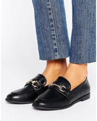 New Look   Black Buckle Loafer   Lyst