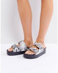Sixtyseven - Natural Flatform Slide Sandal - Lyst