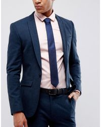 Jack & Jones - Tie In Blue for Men - Lyst