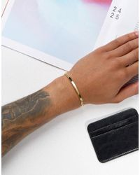 Serge Denimes - Metallic Id Bracelet In Solid Silver With Gold Plating - Lyst