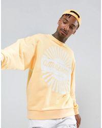ASOS | Yellow Oversized Sweatshirt With Amnesia Print for Men | Lyst
