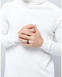 ASOS - Brown Geometric Signet Ring for Men - Lyst