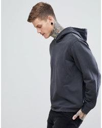 Weekday - Hook Hoodie Washed Black for Men - Lyst