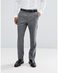 Reiss - Black Slim Suit Pants In Salt N Pepper for Men - Lyst