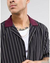 Reclaimed (vintage) Metallic Inspired Chain Necklaces In 2 Pack Exclusive To Asos for men