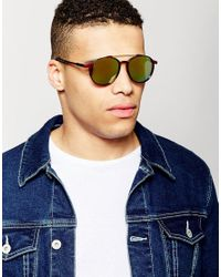 Trip - Red Round Sunglasses for Men - Lyst