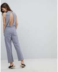 Rhythm - Blue Beach Castaway Stripe Jumpsuit - Lyst