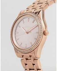 Michael Kors - Pink Women's Stainless Steel Parker Watch - Lyst