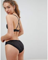 New Look - Black Broderie And Rose Briefs - Lyst