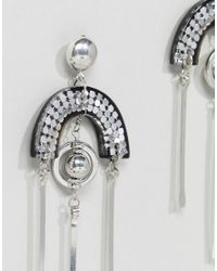 ASOS - Metallic Design Trapped Resin And Stick Drop Earrings - Lyst
