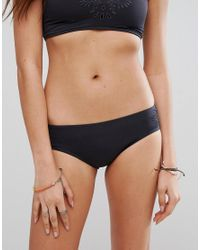 Billabong | Black Embroidered Cutwork Bikini Bottom | Lyst