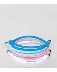 ASOS | Blue Pastel Bracelet Pack | Lyst