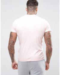 KTZ - Pink Sandwash T-shirt With Small Logo for Men - Lyst