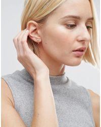 Kingsley Ryan - Metallic Sterling Silver Gem Hoop Earrings - Lyst
