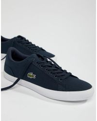 dca8a33f6d1bd4 Lacoste Lerond Bl 2 Trainers In Blue Canvas in Blue for Men - Lyst