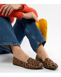 76770c921fd34b Lyst - New Look Leopard Loafer in Brown