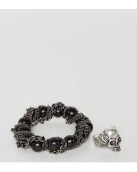 ASOS - Multicolor Bracelet And Ring Pack With Skulls for Men - Lyst