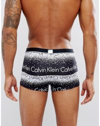 Calvin Klein - Black Low Rise Trunks Id Microfibre for Men - Lyst