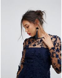 Warehouse - Blue Premium Embroidered Shift Dress - Lyst