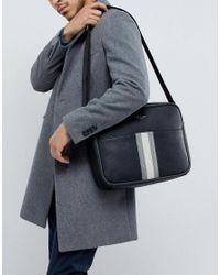 Ted Baker - Black Delano Webbing Messenger Bag for Men - Lyst