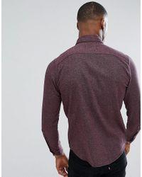 Hollister - Red Flannel Shirt In Burgundy for Men - Lyst